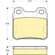 Колодки тормозные дисковые задние OPEL ASTRA F 1993-1998