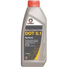 Жидкость тормозная 1 литр DOT 5,1 COMMA BF51L