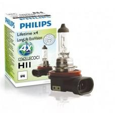 лампа галогенная H11 PHILIPS 12362LLECOC1